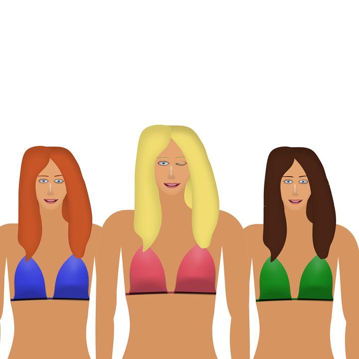Women in Bikinis - Laura Nybeck's Art