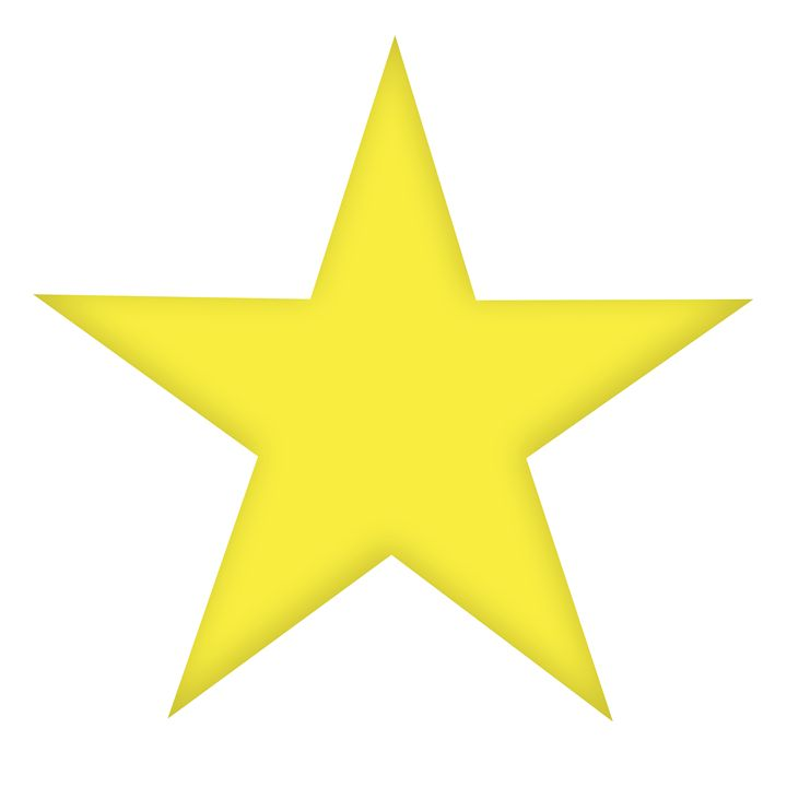 Large Solid Gold-Yellow Star - Laura Nybeck's Art
