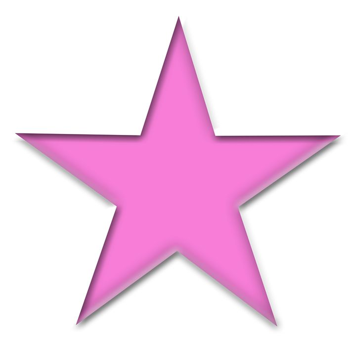 Large Pink Solid Star on White - Laura Nybeck's Art