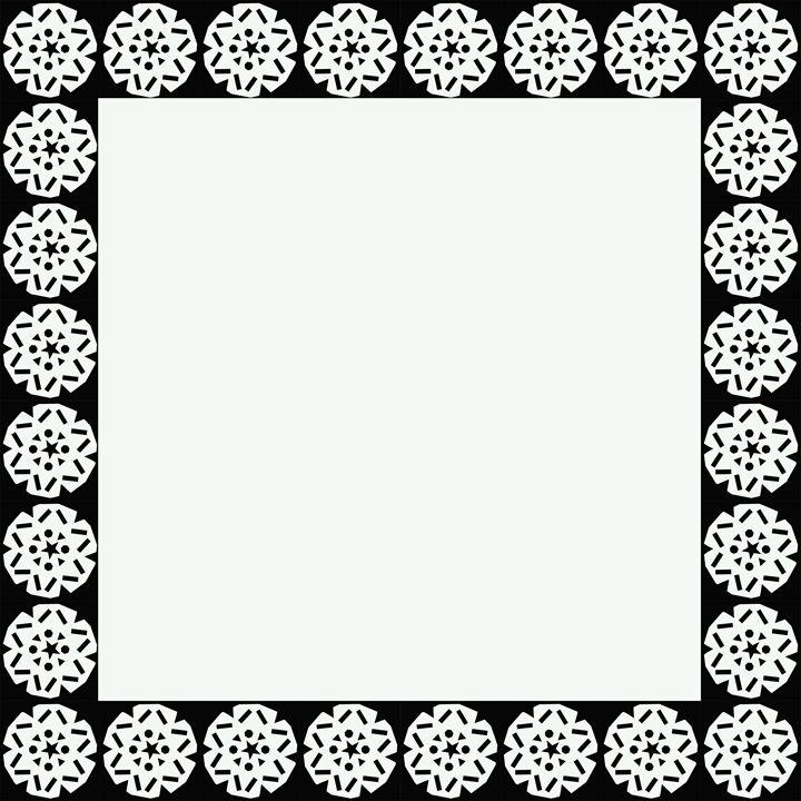 Black and White Snowflake Frame - Laura Nybeck's Art