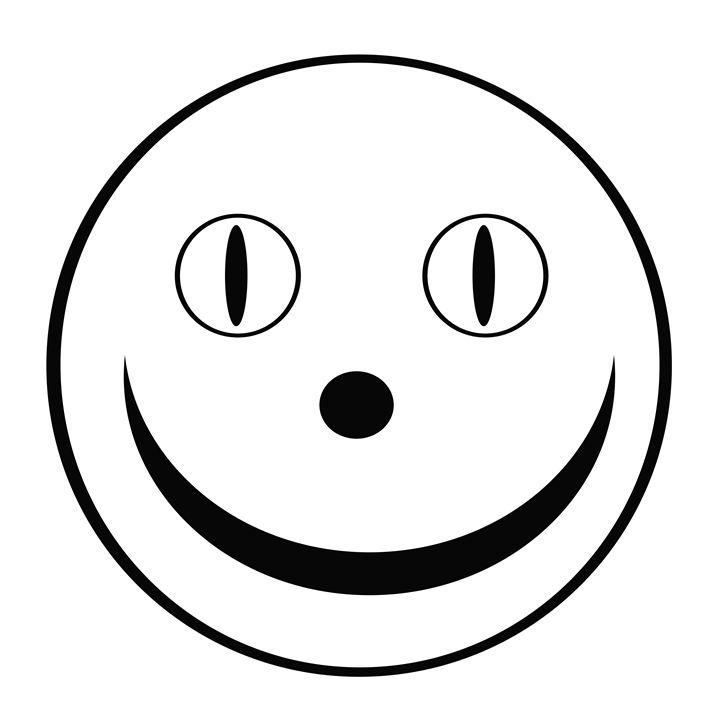 Black and White Happy Face - Laura Nybeck's Art