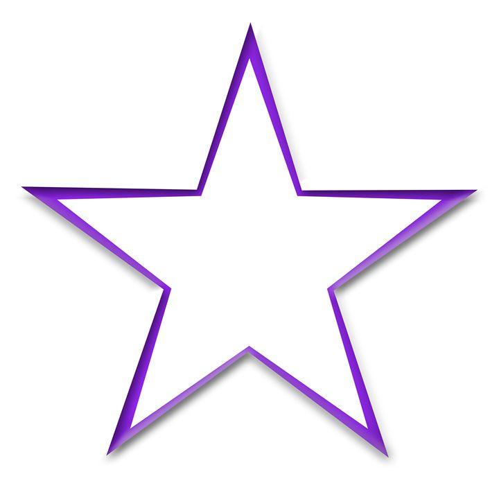 Large Purple Start Outline - Laura Nybeck's Art