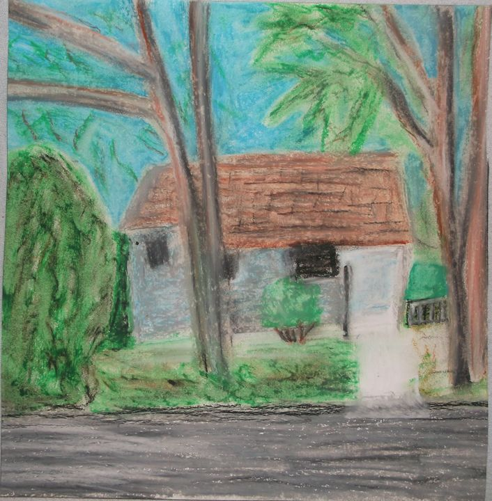 Impressionistic Grey House - Laura Nybeck's Art