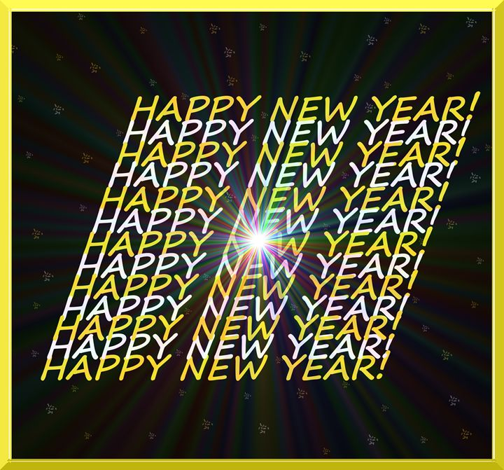 Happy New Year Sign - Laura Nybeck's Art