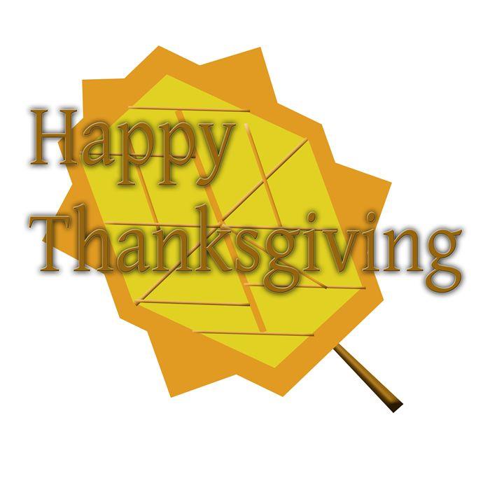 Happy Thanksgiving Leaf - Laura Nybeck's Art