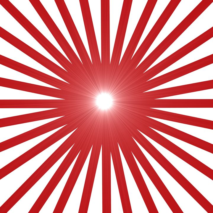 Red and White Sparkling Sun - Laura Nybeck's Art