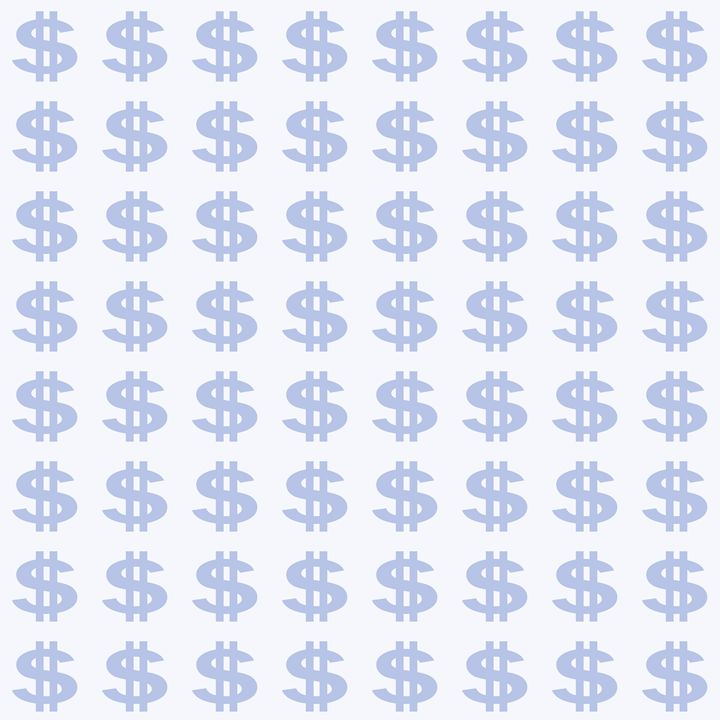 Pale Blue Dollar Sign Pattern - Laura Nybeck's Art