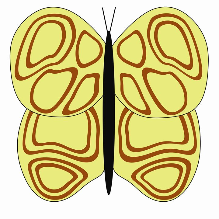 Yellow and Brown Butterfly - Laura Nybeck's Art