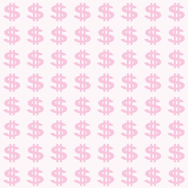 Pink Dollar Sign Pattern - Laura Nybeck's Art