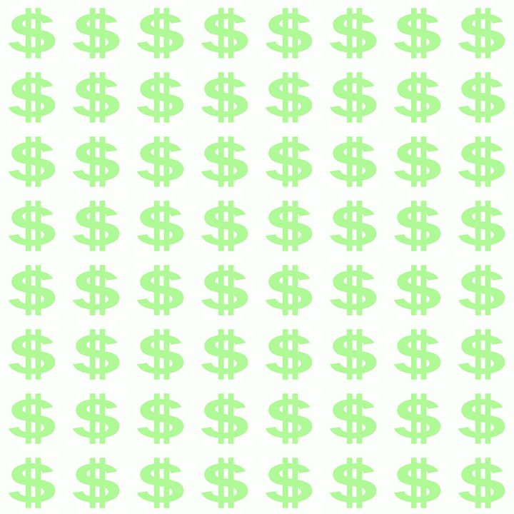 Bright Green Dollar Signs Pattern - Laura Nybeck's Art