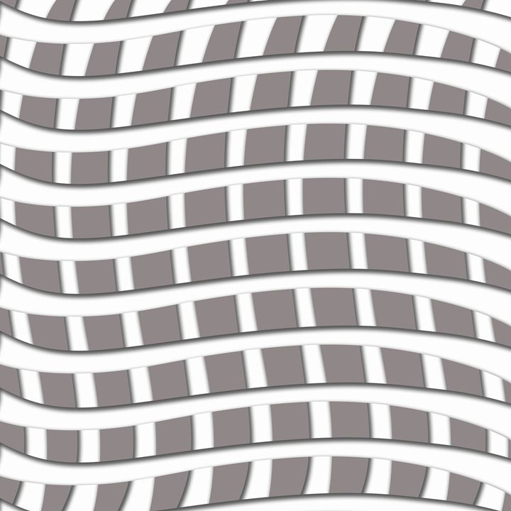 White Weave Pattern on Grey - Laura Nybeck's Art