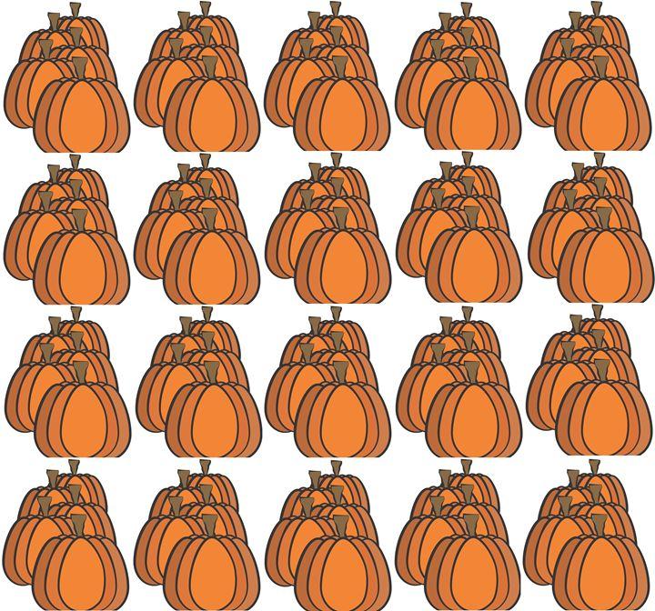 Pumpkins Pattern - Laura Nybeck's Art