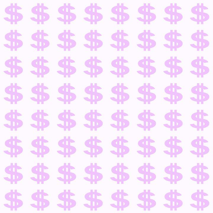 Light Purple Dollar Sign Pattern - Laura Nybeck's Art