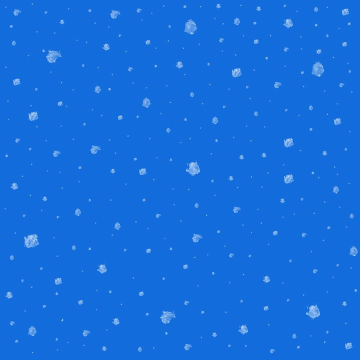 Blue Sky With Snow Falling - Laura Nybeck's Art