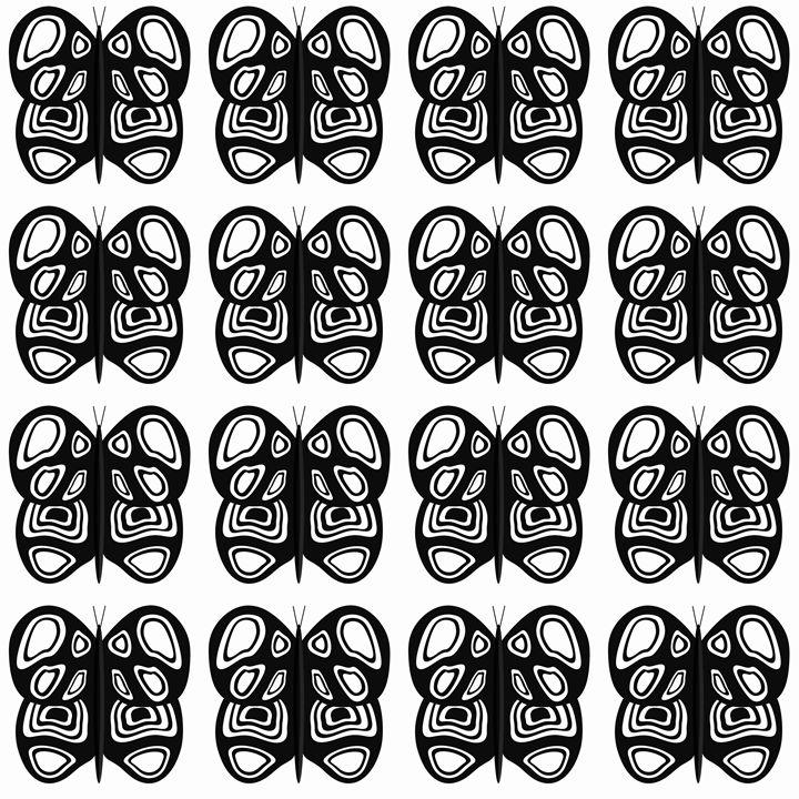 Black and White Butterflies Medium - Laura Nybeck's Art