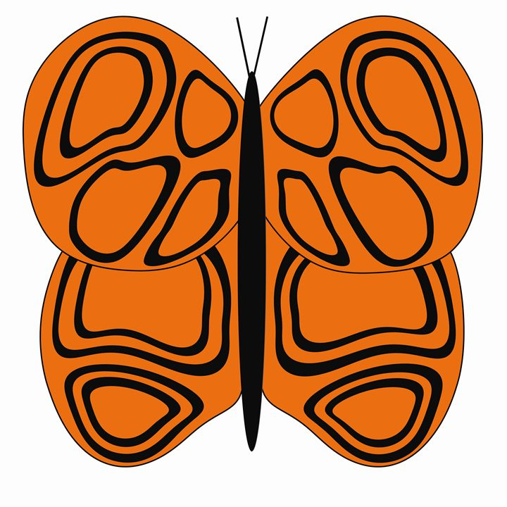 Orange and Black Butterfly - Laura Nybeck's Art
