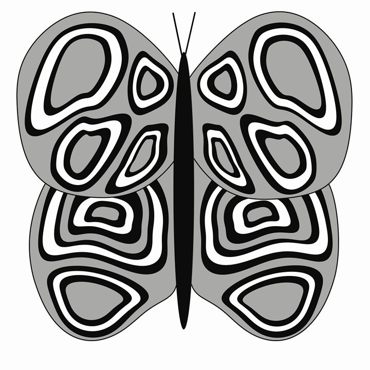 Grey and White Butterfly - Laura Nybeck's Art