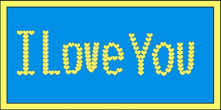 Yellow I Love You Hearts on Blue - Laura Nybeck's Art