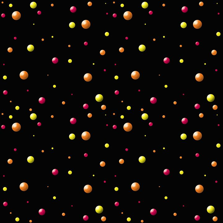 Dark Pink-Yellow-Orange Balls Large - Laura Nybeck's Art