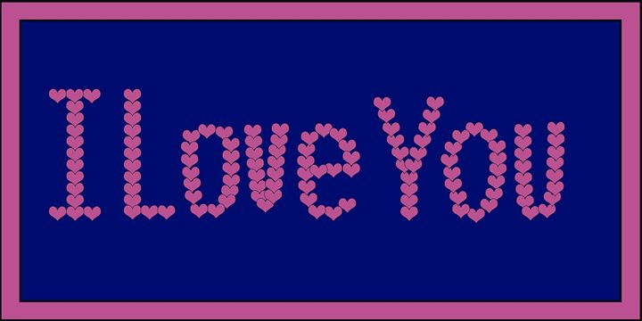 Pink I Love You Hearts on Purple - Laura Nybeck's Art