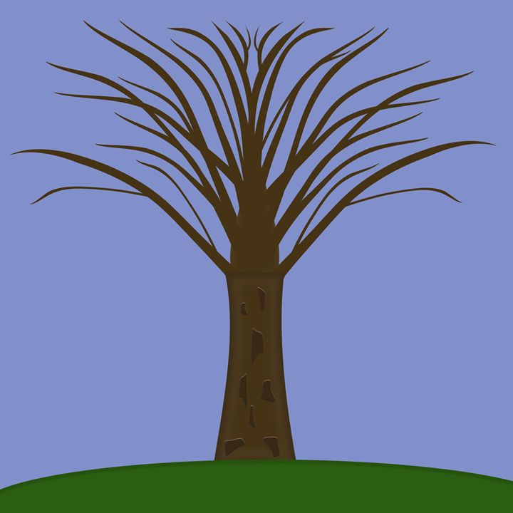 Bare Tree With Branches - Laura Nybeck's Art
