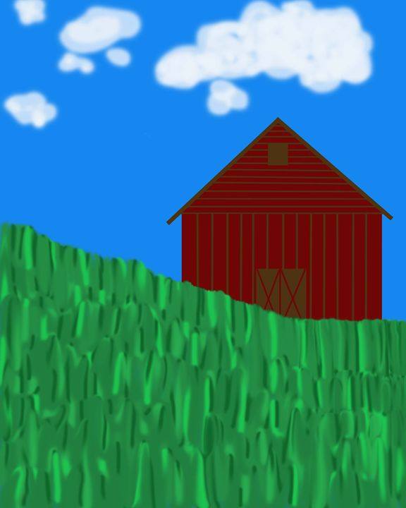 Impressionist Barn With Hill - Laura Nybeck's Art