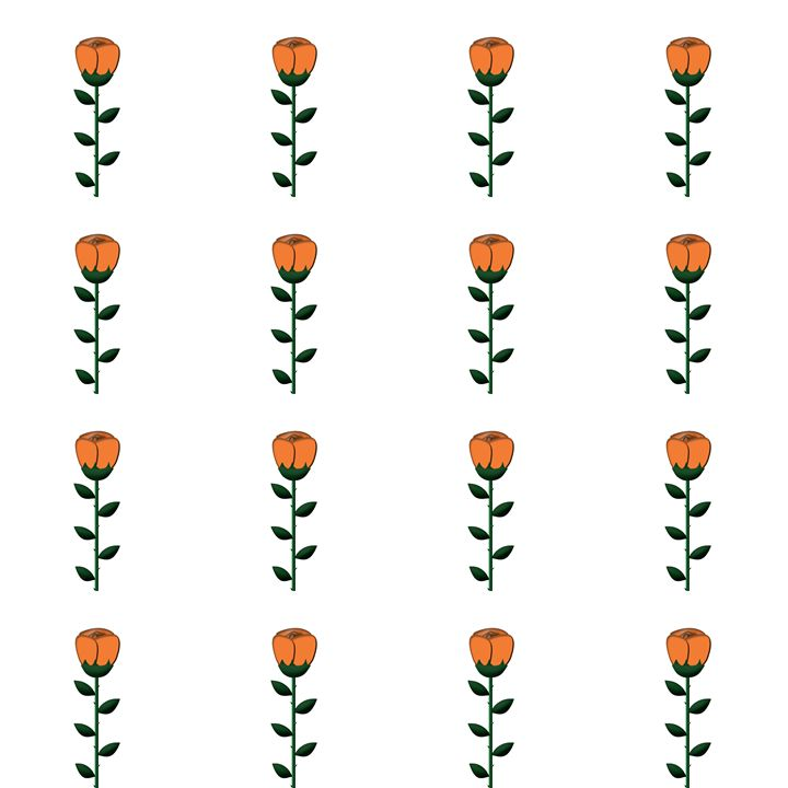Medium Orange Rose Pattern - Laura Nybeck's Art