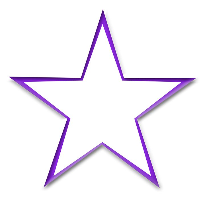 Large Purple Star Outline - Laura Nybeck's Art