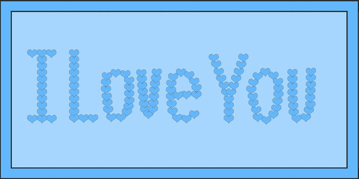 Blue I Love You Hearts on Light Blue - Laura Nybeck's Art