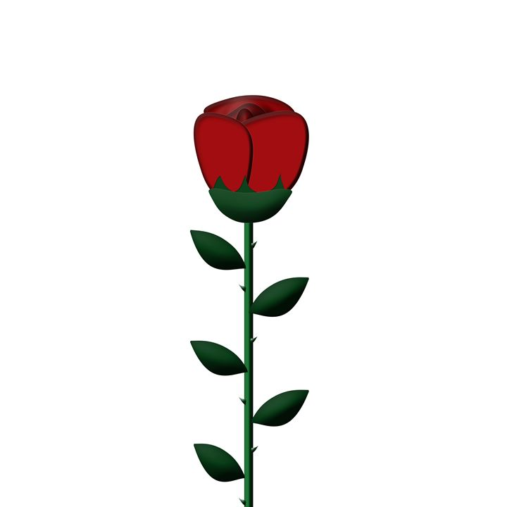 Single Large Red Rose - Laura Nybeck's Art