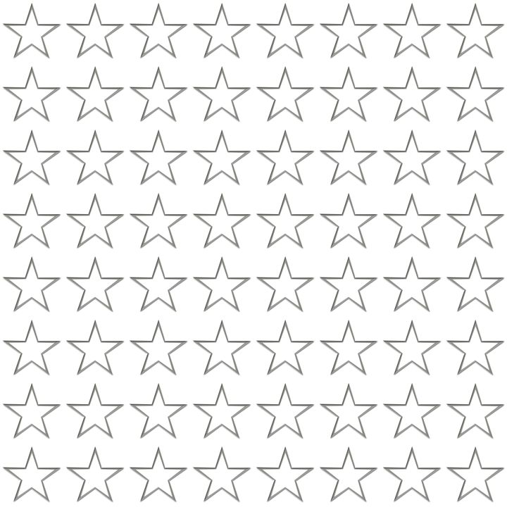 Silver Star Outline Pattern - Laura Nybeck's Art