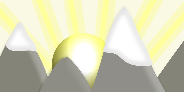 Mountains With Sunrise - Laura Nybeck's Art