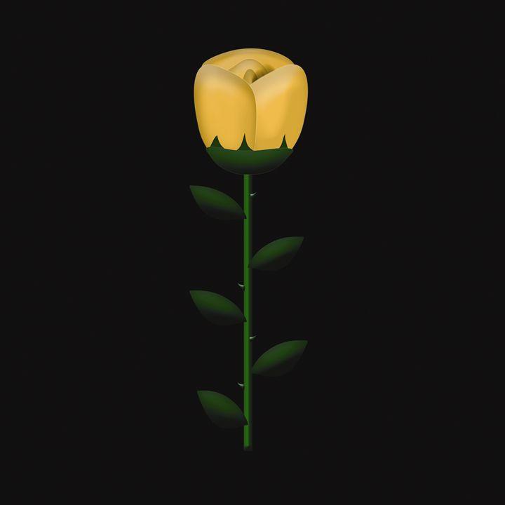 Single Peach Rose on Black - Laura Nybeck's Art