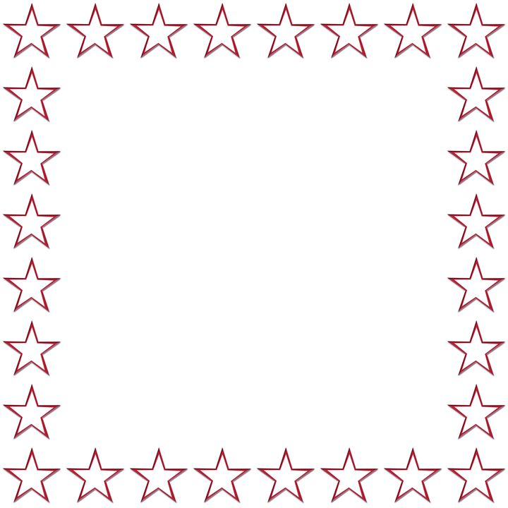 Red Outline Star Frame - Laura Nybeck's Art