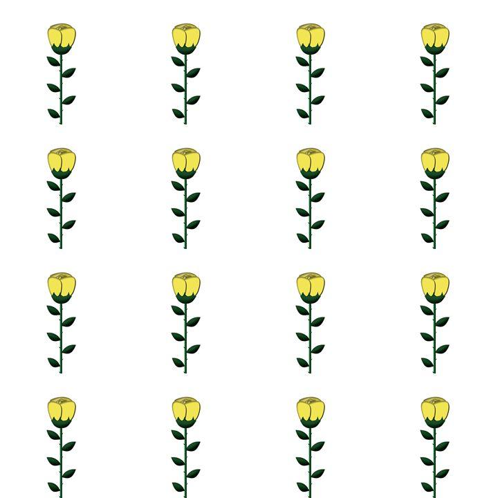 Medium Yellow Single Rose Pattern - Laura Nybeck's Art