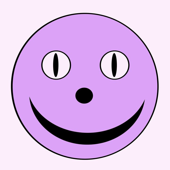 Lavender Large Happy Face - Laura Nybeck's Art