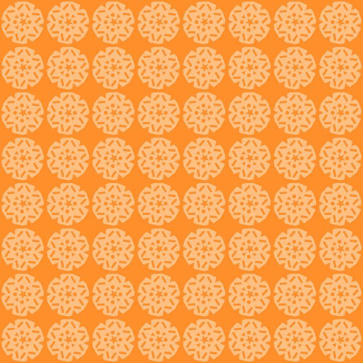 Orange Snowflake Pattern - Laura Nybeck's Art