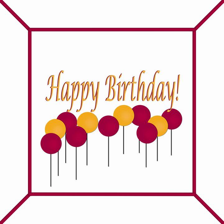 Maroon and Orange Birthday Cake - Laura Nybeck's Art