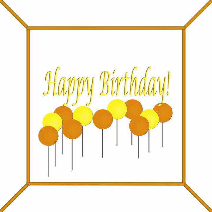 Yellow and Orange Birthday Cake - Laura Nybeck's Art