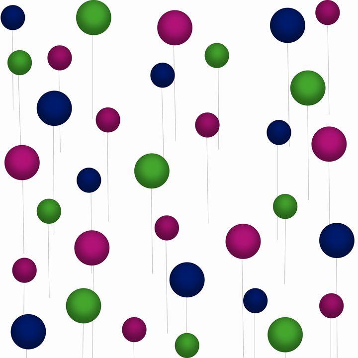 Maroon-Dark Blue-Green Balloons - Laura Nybeck's Art