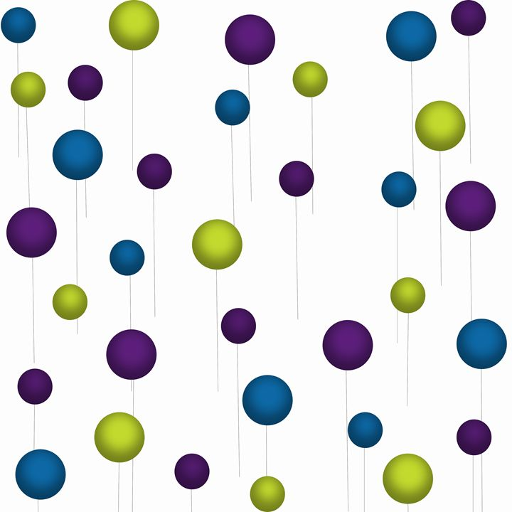 Blue-Dark Purple-Lime Green Balloons - Laura Nybeck's Art