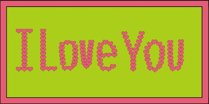 Pink I Love You Hearts On Lime Green - Laura Nybeck's Art