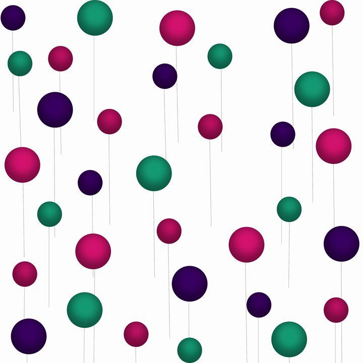 Dark Pink-Teal-Dark Purple Ballons - Laura Nybeck's Art