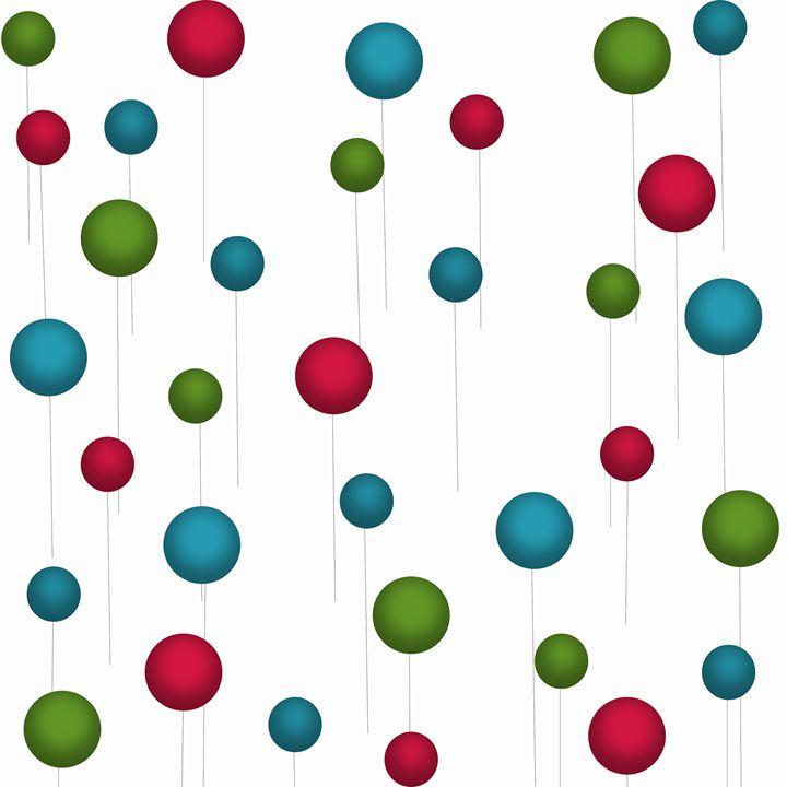 Teal-Green-Maroon Balloons - Laura Nybeck's Art