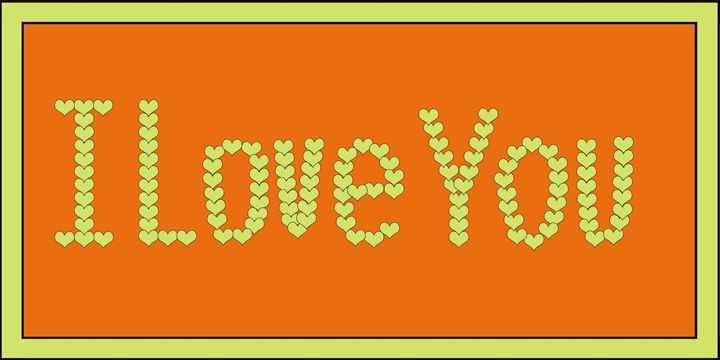 Yellow I Love You Hearts on Orange - Laura Nybeck's Art