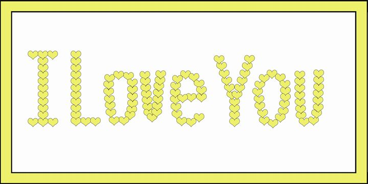 Yellow I Love You Hearts on White - Laura Nybeck's Art