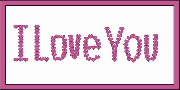 Fuchsia I Love You Hearts - Laura Nybeck's Art