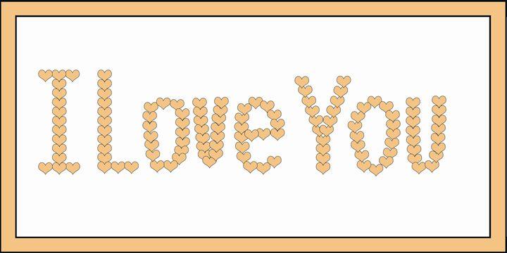 Peach I Love You Hearts on White - Laura Nybeck's Art