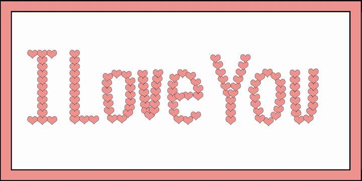 Salmon I Love You Hearts on White - Laura Nybeck's Art