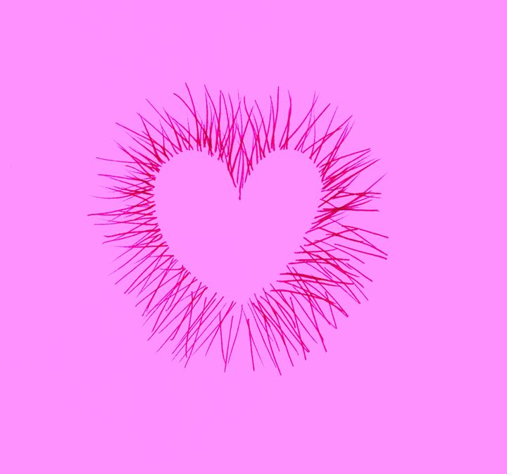 Pink Heart Spikes on Pink - Laura Nybeck's Art